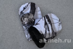 1. Рукавицы меховые (ТУ, ткань Мембрана Алова)