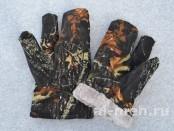 Рукавица двух-палая для охотников и силовых структур ( Ткань Мембрана Алова - цвет Черный лес)