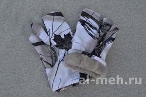 Рукавица двух-палая для охотников и силовых структур ( Ткань Мембрана Алова - цвет Зимний лес)