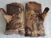 Рукавицы утепленные меховые Шубинка (ГОСТ 20176-84, ткань Оксфорд-240, цвет - Лес)