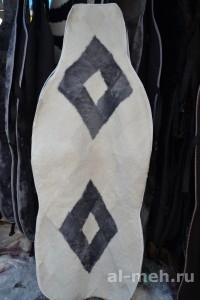Лоскутная накидка на сидения авто (из натуральной овчины)2