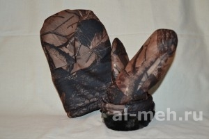 Образец - Рукавицы меховые с двойным утеплением (ТУ, ткань Мембрана Алова)