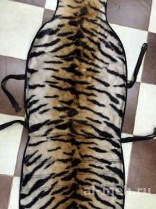 1.Накидка на передние сидение автомобиля из натурального мутона -Тигр