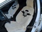 Накидка на передние сидения автомобиля из цельной овчины ВДВ