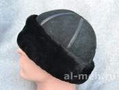 Зимняя шапка-боярка с отворотом, из цельных кусков натуральной овчины.