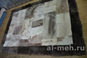 Коврик Прямоугольник светлый из натуральной овчины, размер 135 на 95, цена 2200р., без подклады
