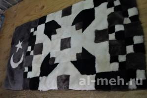 Молитвенный коврик Тюльпан из лоскута натуральной овчины на подкладе