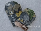 Рукавицы меховые (ТУ, ткань Мембрана Алова, цвет - Серый Лес)