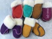 Теплые детские варежки из натурального меха, цвет - любой